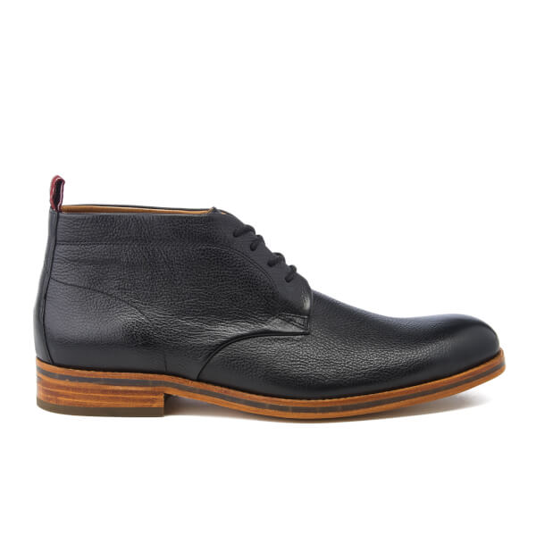 H Shoes by Hudson Men's Lenin Leather Desert Boots - Black