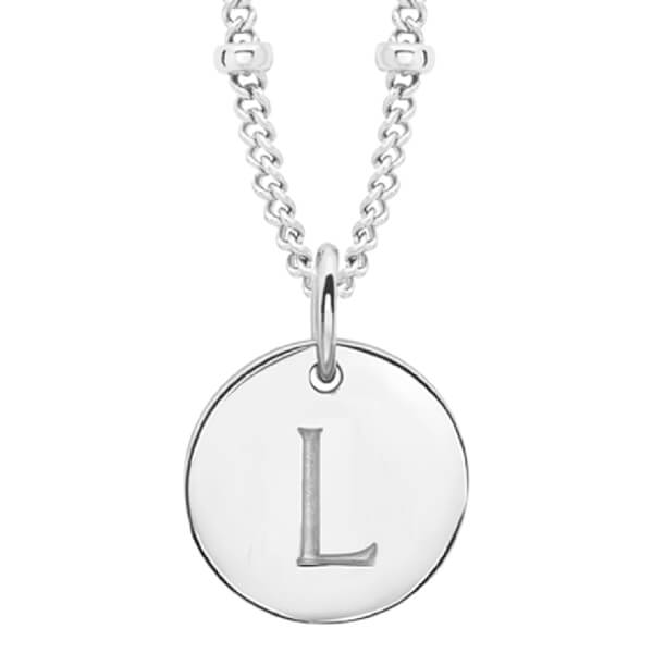 Missoma Women's Initial Charm Necklace - L - Silver
