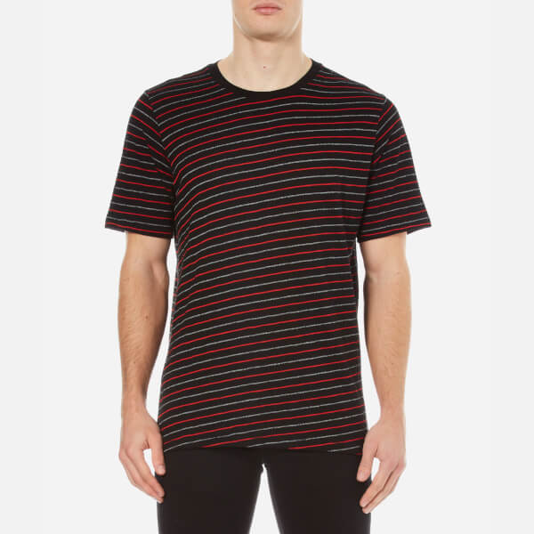 rag & bone Men's Colin Striped T-Shirt - Black/Red