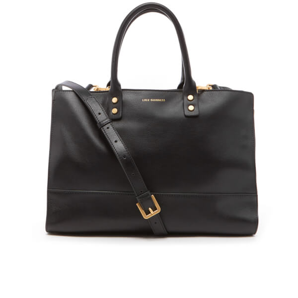 Lulu Guinness Women's Daphne Medium Smooth Leather Cross Body Bag - Black Porcelain