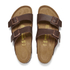 Birkenstock Men's Arizona Double Strap Sandals - Dark Brown: Image 2