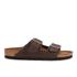 Birkenstock Men's Arizona Double Strap Sandals - Dark Brown: Image 1