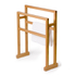 Wireworks Arena Bamboo Towel Rail: Image 4