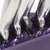 Morphy Richards 46293 5 Piece Knife Block - Plum: Image 3