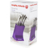 Morphy Richards 46293 5 Piece Knife Block - Plum: Image 5