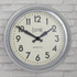 Newgate Giant Electric Wall Clock - Chrome: Image 2