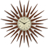 Newgate Pluto Wall Clock - Brown: Image 1