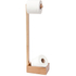 Wireworks Mezza Natural Oak Freestanding Roll Holder: Image 1