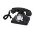 GPO Retro 200 Classic Rotary Dial Telephone - Black: Image 1