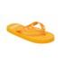 PE Beach Flip Flops with PVC Strap - Orange - Large: Image 3