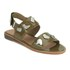 Folk Women's Indra Two Part Patent Leather Sandals - Bronze: Image 5