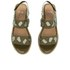 Folk Women's Indra Two Part Patent Leather Sandals - Bronze: Image 2