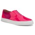 Folk Women's Isa Patent Leather/Suede Plimsoll Trainers - Fluro Pink: Image 5