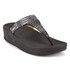FitFlop Women's Aztek Chada Suede Toe Post Sandals - Black/Silver Stones: Image 3
