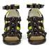 Markus Lupfer Women's Glitter Black Balls Block Heeled Sandals - Black: Image 4