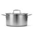 Le Creuset 3-Ply Stainless Steel Deep Casserole Dish with Lid - 24cm: Image 4