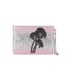Matthew Williamson Women's Glitter Clutch Bag - Light Pink/Silver: Image 1