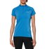 Asics Women's Half Zip Shorts Sleeve Running Top - Jeans Blue: Image 3