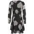VILA Women's Cross Floral Dress - Phantom: Image 2