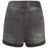 Cheap Monday Women's 'Short Skin' High-Waist Denim Shorts - Grey: Image 4