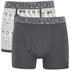Crosshatch Men's Squint 2-Pack Boxer Shorts - Vaporous Grey/Magnet: Image 1