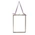 Nkuku Kiko Antique Brass Glass Frame - Portrait 5x7 Inches: Image 1