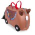 Trunki Bronco Ride-On Suitcase - Brown: Image 1