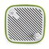 Sonoro Cubo Go New York Portable Bluetooth Speaker - White/Green Felt: Image 3