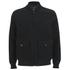 Knutsford Men's 'Made in England' Moleskin Zip-Through Bomber Jacket - Black Moleskin: Image 1