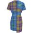 House of Holland Women's Cross Over Tartan Dress - Blue/Purple/Tartan: Image 2