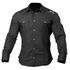Better Bodies Men's Flex Shirt - Wash Black: Image 1