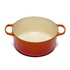 Le Creuset Signature Cast Iron Round Casserole Dish - 28cm - Volcanic: Image 2