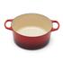 Le Creuset Signature Cast Iron Round Casserole Dish - 24cm - Cerise: Image 2