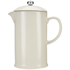 Le Creuset Stoneware Cafetiere Coffee Press - Almond: Image 1