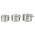 Le Creuset 3-Ply Stainless Steel 3 Piece Saucepan Set: Image 1