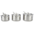 Le Creuset 3-Ply Stainless Steel 3 Piece Saucepan Set: Image 4