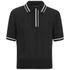 rag & bone Women's Dana Polo Shirt - Black: Image 1