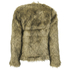 nümph Womens Fake Fur Box Jacket - Brown: Image 2