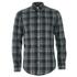GANT Men's Heather Twill Long Sleeve Shirt - Dark Charcoal Melange: Image 1