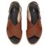 HUGO Women's Valenteen Snake Print Leather Crossover Sandals - Light/Pastel Brown: Image 2