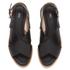 HUGO Women's Valenteen Snake Print Leather Crossover Sandals - Black: Image 2