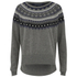 French Connection Women's Fran Fairisle Crew Neck Jumper - Grey Melange: Image 1