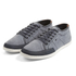 Boxfresh Men's Sparko Washed Canvas Low Top Trainers - Blue Graphite: Image 1