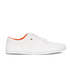Boxfresh Men's Spencer Waxed Canvas Low Top Trainers - White/Orange: Image 1