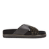 Senso Women's Kayden I Leather/Suede Double Strap Sandals - Ebony: Image 1
