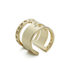 Maria Francesca Pepe Women's Orbital Cut Out Ring - Gold: Image 2