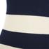 Ganni Women's Stripe Sleeveless High Neck Jumper - Vanilla Ice/Total Eclipse: Image 3