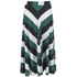 Ganni Women's Block Stripe Midi Skirt - Block Stripes: Image 1