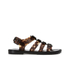 Melissa Women's Flox Print Strappy Sandals - Black Tortoiseshell: Image 1
