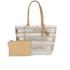 Loeffler Randall Women's Beach Tote Bag - White/Silver/Natural: Image 1